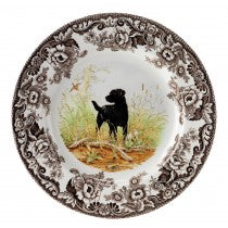 Spode Dinner Plates Woodland Collection Hunting Dogs- Black Lab (wwlbo105)