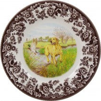Spode Dinner Plates Woodland Collection Hunting Dogs-Golden Retriever (wLarger0105)