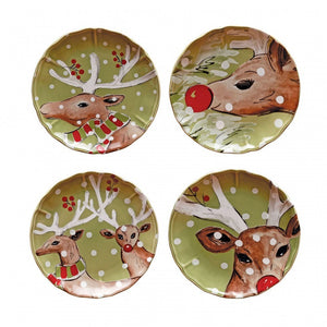 Casafina Accent Plates Salad - Deer Friends (df604-grn)