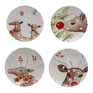 Casafina Accent Plates Salad - Deer Friends White (df604-whi)