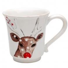 Casafina Mugs Deer Friends White Coffee Cup (df609-whi)