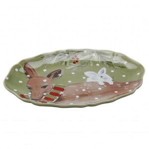 Casafina Serving Pieces Deer Friends Oval Platter
