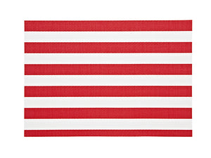 Harman Vinyl Placemats Cabana Stripe Red (4998312)