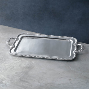 Beatriz Ball Large Pearl Rectangle David Tray (5817)