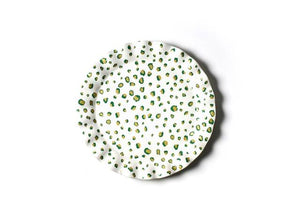 "Coton Colors Serving Pieces Emerald Double Dot 13"" Round Ruffle Platter (ddot-13rrd-emd)"