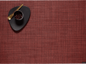 Chilewich Placemats Pomegranate Rectangle Basketweave