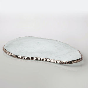 "Annie Glass Serving Pieces Edgy Large Cheese Slab-16 3/4x9"" (e127g)"