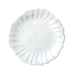 Vietri Incanto European Dinner Plates White Ruffle (INC-1116H)
