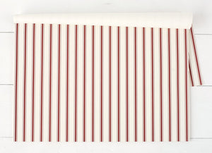 Hester & Cook Placemats Red Ribbon Stripe Placemat