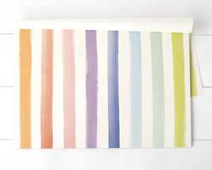 Hester & Cook Placemats Sorbet Painted Stripe Placemat