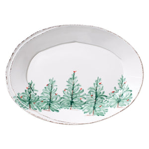 Vietri Serving Pieces Lastra Holiday Small Oval Platter (LAS-2625)