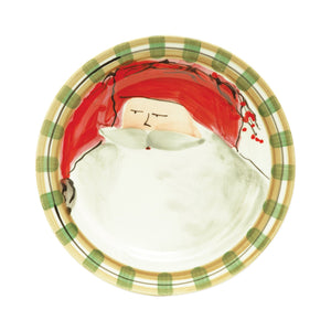 Vietri Dinner Plates Old St. Nick Dinner Plate Red Hat (7800A)
