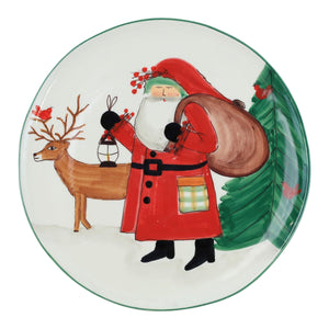 Vietri Serving Pieces Old St. Nick 2019 Limited Edition Round Platter