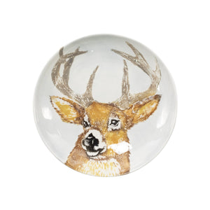 Vietri Bowls Into the Woods Deer Pasta Bowl (thw-97004d)