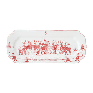 Juliska Serving Pieces Reindeer Games Ruby Hostess Tray