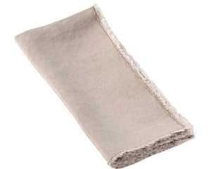 Saro Napkins, Towels, Table Runners, & Placemats Fringed Edge Natural Napkin (13009.n20s)