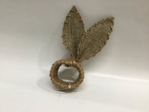The Royal Standard burlap bunny ears napkin ring