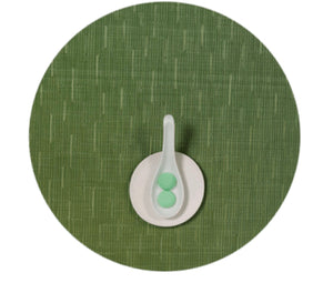 Chilewich Placemats Bamboo Round Lawn Green