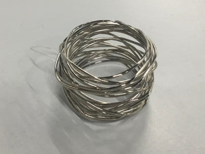 Saro Napkin Rings Silver Wired Napkin Ring