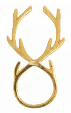 Split P Napkin Rings Gold Antler Nr (9900-214)