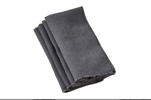 Saro Napkins, Towels, Table Runners, & Placemats Fringed Edge Slate Napkin