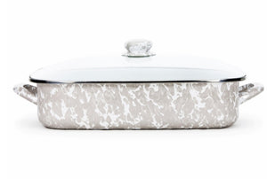 Golden Rabbit Taupe swirl lasagna pan