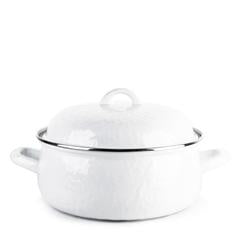 Golden Rabbit Enamelware White Dutch Oven (ww31)