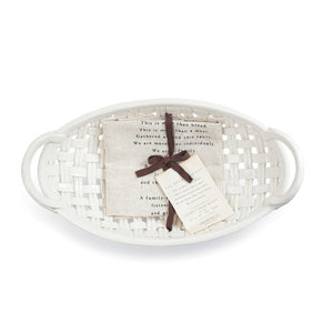 Demdaco Ceramic Bread Basket with Towel Regular