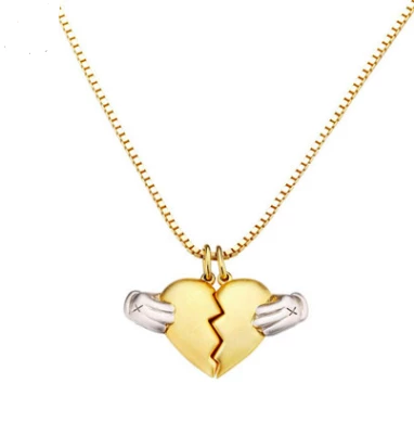 Couple Necklace - a half heart for everyone