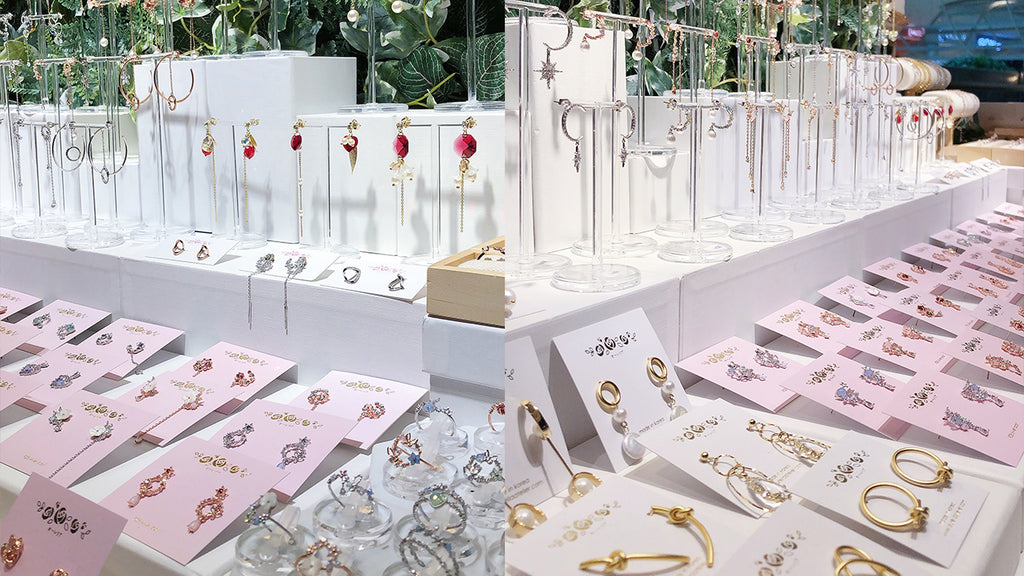 Rose Gold Silver Korea Made Earrings Korean Jewellery Jewelry Local Brand in Malaysia Cubic Zirconia Dainty Delicate Minimalist Jewellery Jewelry Bridal Bride Clip On Earrings 925 Sterling Silver Dinner Accessory Pop Up Store Flagship Store The Starling Aurelia Atelier Red Kettle