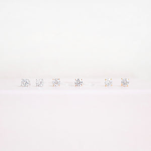 4 Prong Diamond Earrings