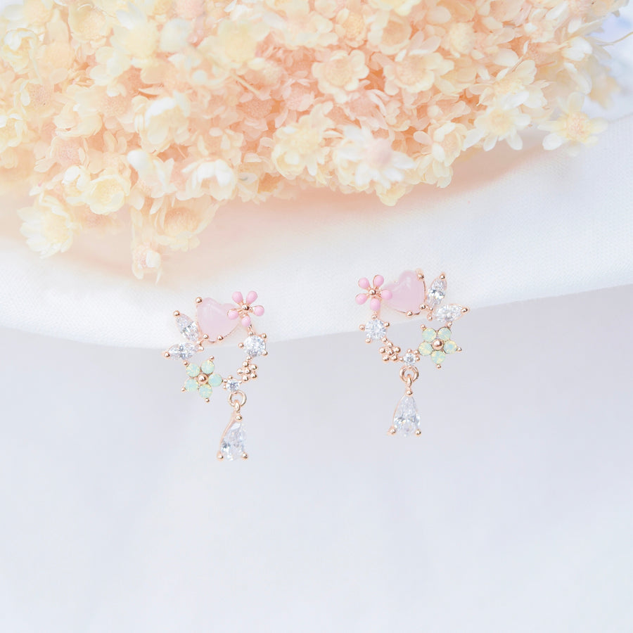 Opalescent Bellflower Earrings
