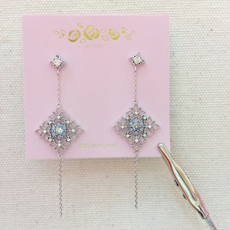 Korea Made Earrings Local Brand in Malaysia Cubic Zirconia Anting Clip On Earrings
