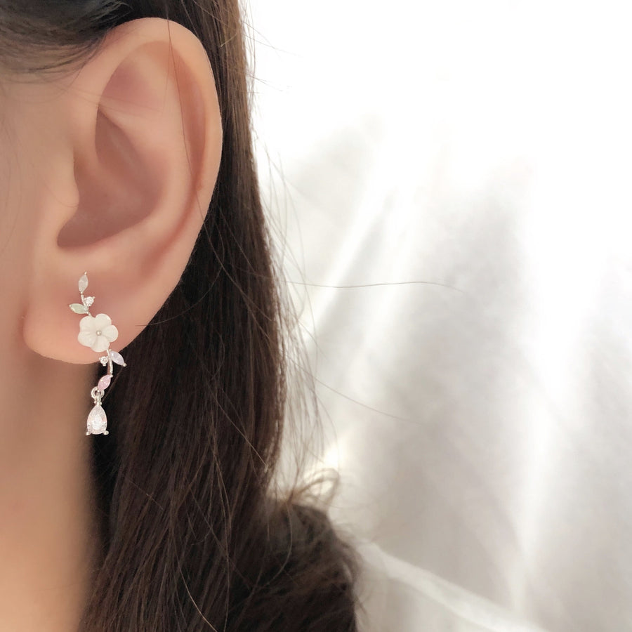 Made in Korea Earrings Necklace Bracelet Korean Anting Rantai Gelang Tangan Cubic Zirconia Bride Bridal Dinner 925 Sterling Silver Accessory Fashion Fancy Stylish Costume Jewellery Online Malaysia Shopping Trendy Accessories Daily Wear Jewelry Dainty Minimalist Delicate Clip On Earrings No Piercing Special Perfect Gift From Heart For Your Loved One Happy Valentines Day Petite Floral Box gift for her bracelet