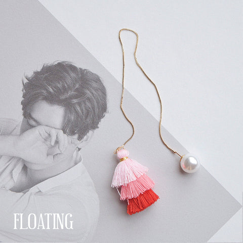 Made in Korea Earrings Korean Anting Tassel Bride Bridal Dinner Titanium Accessory Fashion Fancy Stylish Jewellery Online Malaysia Shopping Trendy Accessories Daily Wear Jewelry Dainty Minimalist Delicate Clip On Earrings No Piercing Special Perfect Gift From Heart For Your Loved One