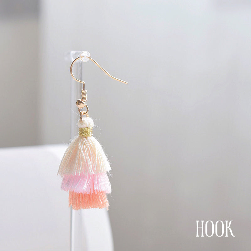 Made in Korea Earrings Korean Handmade in Malaysia Anting Tassel Bride Bridal Dinner Titanium or 925 Sterling Silver Accessory Fashion Fancy Stylish Costume Jewellery Jewelry Online Malaysia Shopping Trendy Accessories Daily Wear Jewelry Dainty Minimalist Delicate Clip On Earrings No Piercing Special Perfect Gift From Heart For Your Loved One