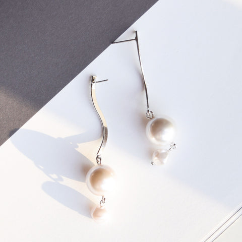 Silver Pearlina Earrings