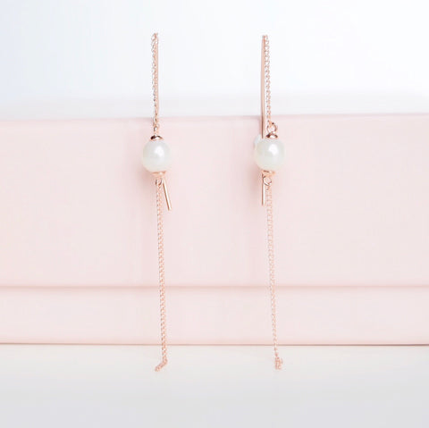 Rose Gold Stubborn Love Earrings