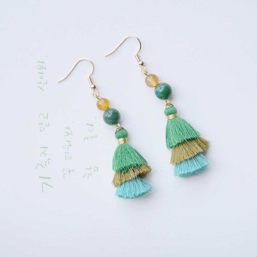 Lady Gao Tassel Earrings
