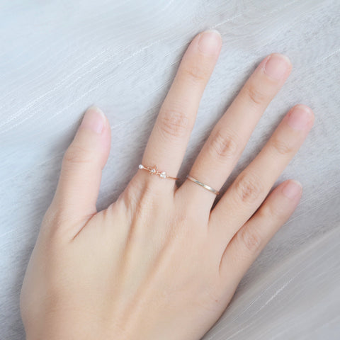 Made in Korea Ring Cubic Zirconia Stone 925 Sterling Silver Rhodium Plated Bride Bridal Dinner Accessory Fashion Fancy Stylish Jewellery Online Malaysia Shopping Trendy Accessories Daily Wear Jewelry Dainty Minimalist Delicate Wear Cincin Special Perfect Gift From Heart For Your Loved One