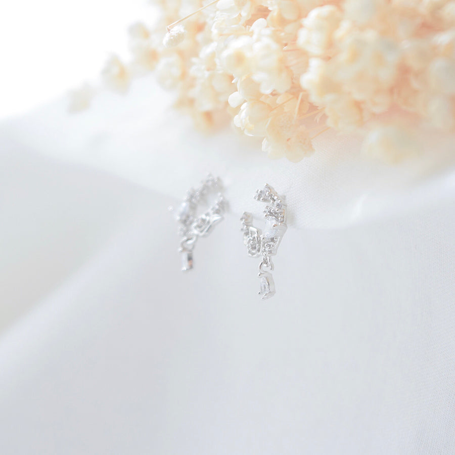 Made in Korea Earrings Korean Anting Cubic Zirconia Bride Bridal Dinner 925 Sterling Silver Accessory Fashion Fancy Stylish Costume Jewellery Online Malaysia Shopping Trendy Accessories Daily Wear Jewelry Dainty Minimalist Delicate Petite Stud Earrings Clip On Earrings No Piercing Special Perfect Gift From Heart For Your Loved One