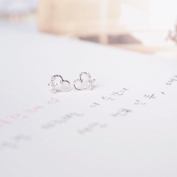 Silver Lovey Dovey Earrings