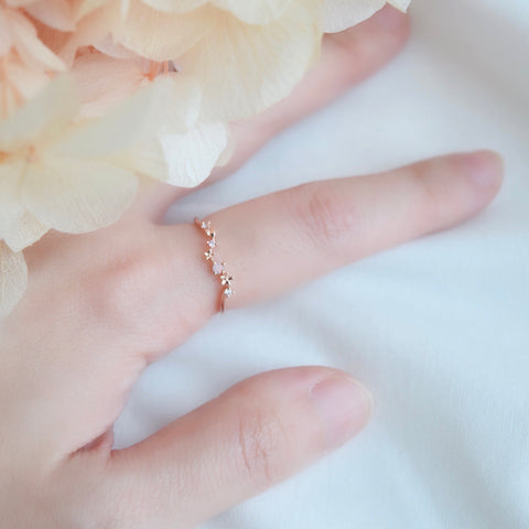 Rose Gold Made in Korea Ring Cubic Zirconia Stone 925 Sterling Silver Rhodium Plated Bride Bridal Dinner Accessory Fashion Fancy Stylish Jewellery Online Malaysia Shopping Trendy Accessories Daily Wear Jewelry Dainty Minimalist Delicate Wear Cincin Adjustable Special Perfect Gift From Heart For Your Loved One