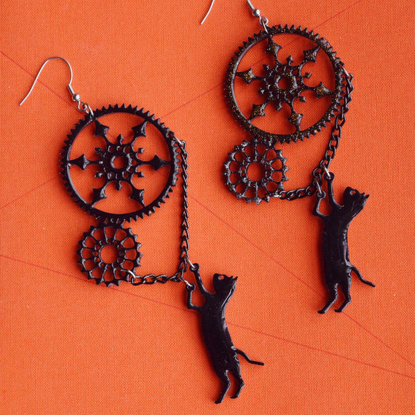 Buffy the Witch's Cat Earrings