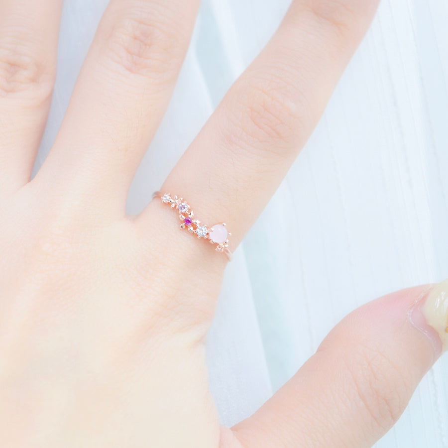 Rose Gold Made in Korea Ring Cubic Zirconia Stone 925 Sterling Silver Bride Bridal Accessory Fashion Fancy Stylish Costume Jewellery Online Malaysia Shopping Trendy Accessories Daily Wear Jewelry Wear Cincin Adjustable Special Perfect Gift From Heart For Your Loved One