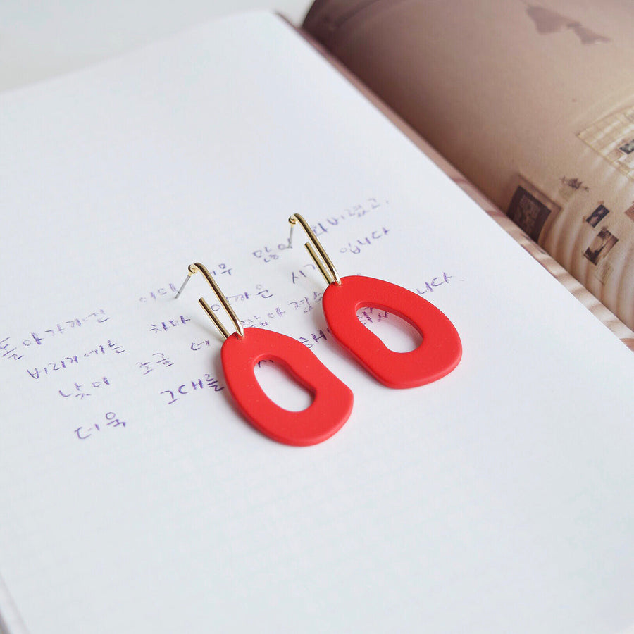 Gold Korea Made Earrings Local Brand in Malaysia Dainty Minimalist Cubic Zirconia