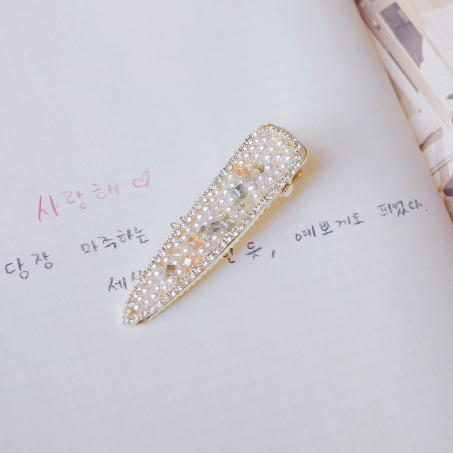 Hair Barrette Jewellery Daily Wear Cubic Zirconia Pearl Hair Clip Trend For Her Hair Pin Hairclip Local Brand In Malaysia