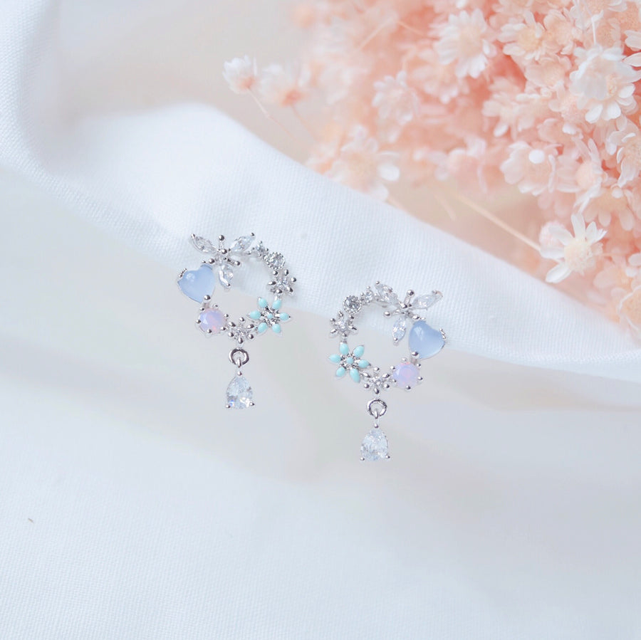 Made in Korea Earrings Korean Anting Cubic Zirconia Bride Bridal Dinner 925 Sterling Silver Accessory Fashion Fancy Stylish Jewellery Online Malaysia Accessories Shopping Daily Wear Jewelry Dainty Minimalist Delicate Clip On Earrings No Piercing Best Perfect Gift