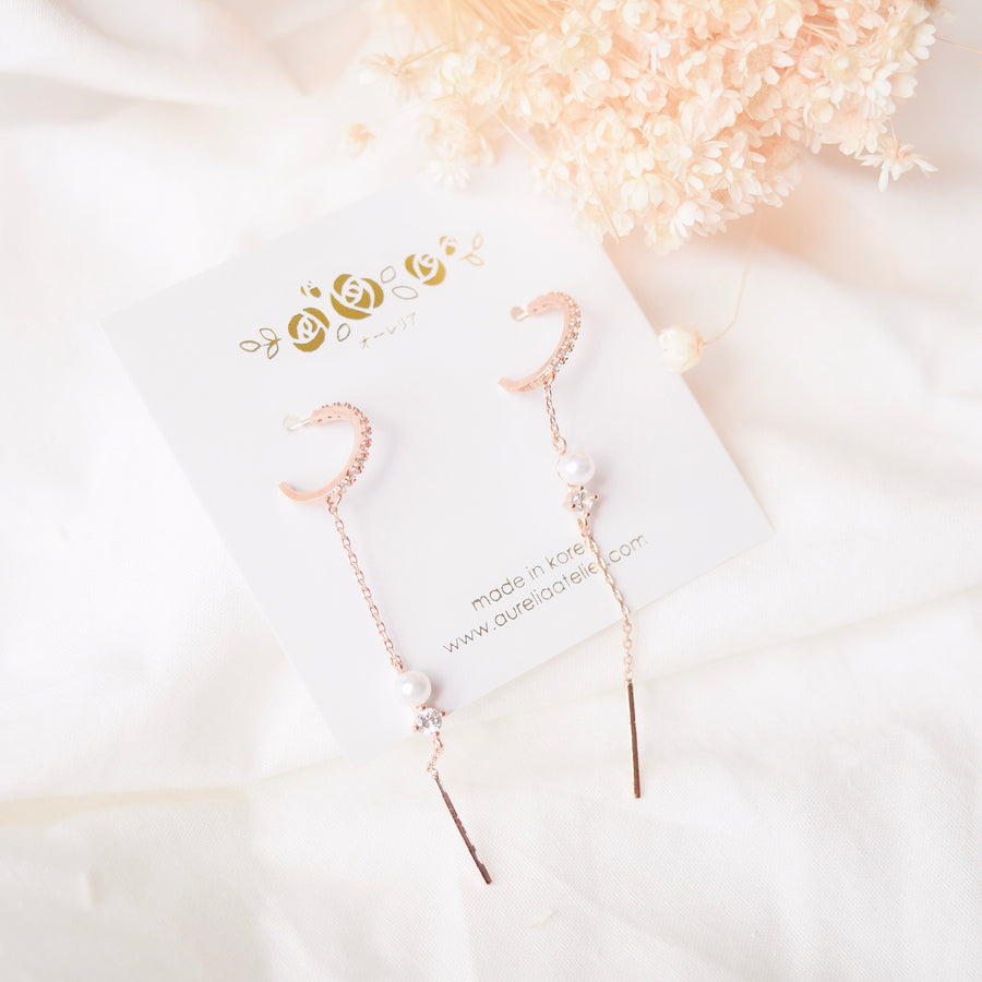 Rose Gold Korea Made Earrings 925 Silver