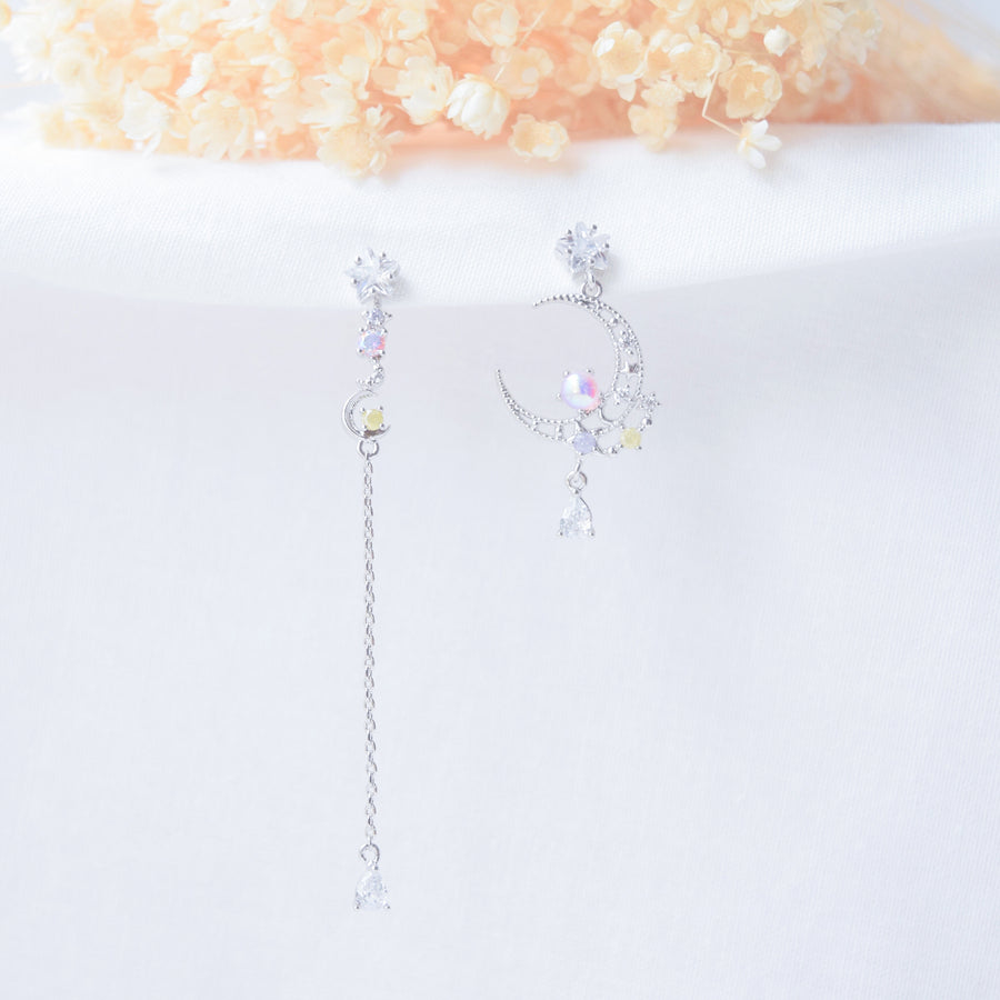 Silver Made in Korea Earrings Korean Anting Cubic Zirconia Bride Bridal Dinner 925 Sterling Silver Accessory Fashion Fancy Stylish Costume Jewellery Online Malaysia Shopping Trendy Accessories Daily Wear Jewelry Dainty Minimalist Delicate Clip On Earrings No Piercing Special Perfect Gift From Heart For Your Loved One